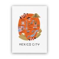 "Rifle Paper Co.® Mexico City Map Art Print - 8"" x 10"""