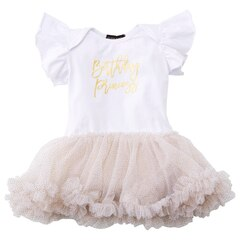Olivia Rose Birthday Princess Glitter Onesie - 6-12 mois