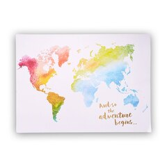 "Expressions Watercolour Map Print – 16"" x 22"""