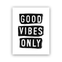 """Melo&Co.® Art Print - Good Vibes Only, 8"""" x 10"""""""