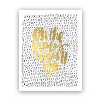 """Melo&Co.® Art Print - Oh the Places Gold, 8"""" x 10"""""""
