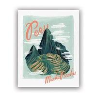 """Rifle Paper Co.® Bon Voyage Art Print - Peru, 8"""" x 10"""""""