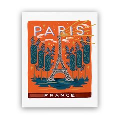 REPRODUCTION RIFLE PAPER CO.® BON VOYAGE –  Paris, 8 X 10 PO