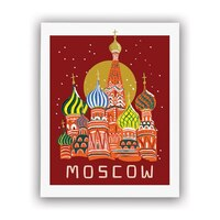 """Rifle Paper Co.® Bon Voyage Art Print - Moscow, 8"""" x 10"""""""
