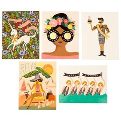 Rifle Paper Co. Multi-pack Greeting Cards, Set of 5 - Margical Birthday