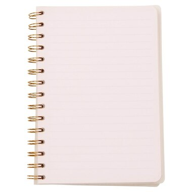 Refillable Spiral Notebook with Gold Edges 5.25x7.50
