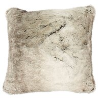 "Faux Fur Pillow Cover – Silver Fox, 18"" x 18"""