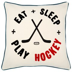 """Expressions Play Hockey Pillow Cover – 18"""" x 18"""""""