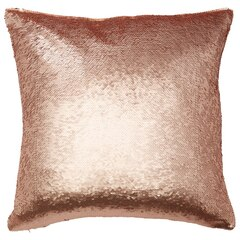 "Mermaid Pillow Cover – Rose Gold, 18"" x 18"""