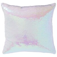 """Mermaid Pillow Cover – Iridescent Pink, 18"""" x 18"""""""