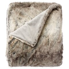 Faux Fur Throw – Silver Fox