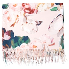 Painted Floral Throw – Blush
