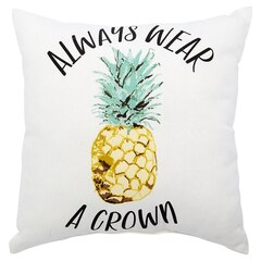 """Expressions Pineapple Crown Outdoor Pillow – 18"""" x 18"""""""