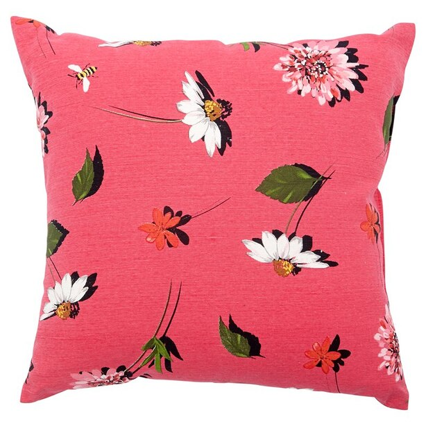 "Daisy Floral Outdoor Pillow – 18"" x 18"""