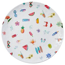 SUMMER ICONS ROUND MELAMINE OUTDOOR TRAY