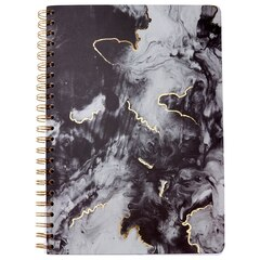 A4 Spiral Notebook - Wave Cloud - Black