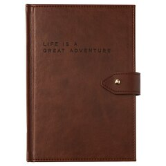 Small Button Journal - Great Adventure, Brown