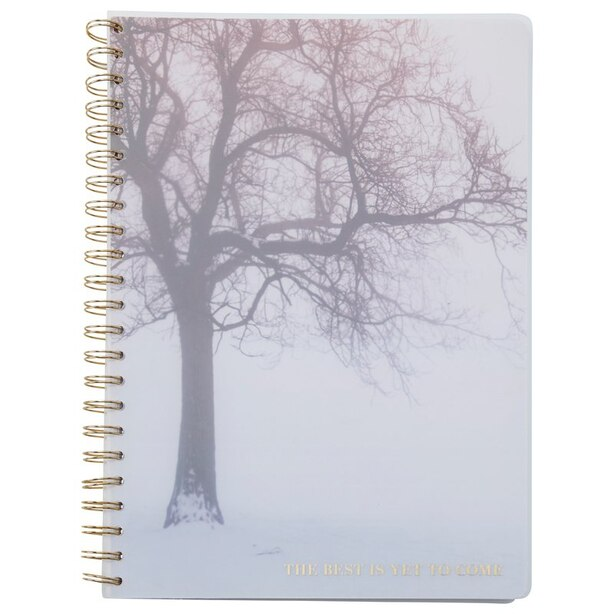 A4 SPIRAL POLYPRO NOTEBOOK BEST IS YET SNOWY TREES