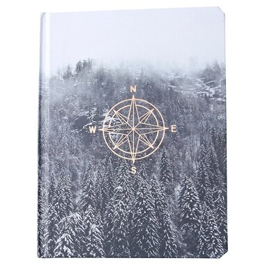 HARDCOVER JOURNAL LOST DIRECTION BLACK WHITE