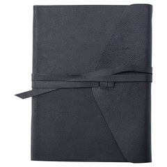 LEATHER WRAP JOURNAL BLACK