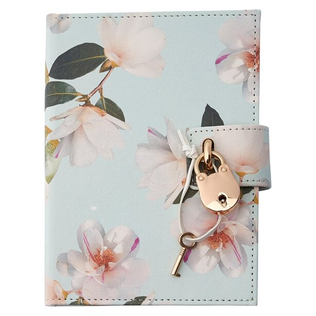 LOCKED DIARY MARQUISE FLORAL IVORY