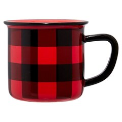 TASSE DE CAMPING – CARREAUX ROUGES