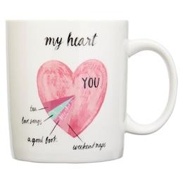 MY HEART CHART MUG