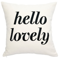 """PILLOW COVER EXPRESSIONS HELLO LOVELY 18"""" X 18"""""""