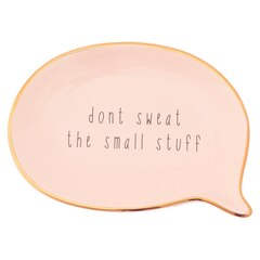LOVE AND LORE JEWELRY TRAY DON'T SWEAT THE SMALL STUFF PINK
