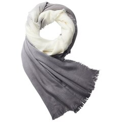 Love and Lore Fuzzy Ombre Scarf Grey