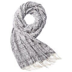 SUPERSOFT SCARF FAIR ISLE GREY