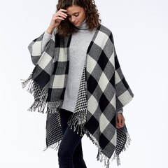 LOVE AND LORE HOUNDSTOOTH REVERSIBLE WRAP BLACK