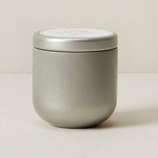 Mini bougie dans un récipient en métal – Bouleau blanc et genévrier