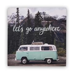 "Let's Go Anywhere Art Print – 12"" x 12"""