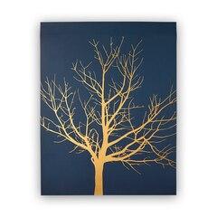 """Gold Tree Art Print – 11"""" x 14"""""""