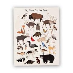 Imprimé « Animaux du Canada » – 11 x 14 po