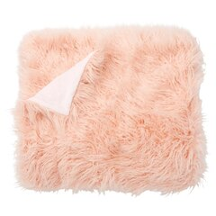 Faux Mongolian Throw – Pink