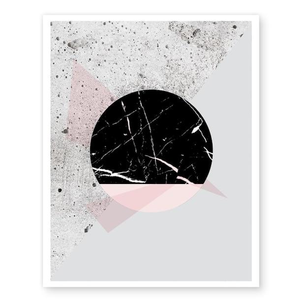 "Geometric Marble Art Print – 11"" x 14"""