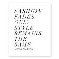 "Fashion Fades Art Print – 11"" x 14"""