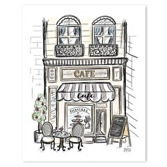 "French Café Art Print - 8"" x 10"""