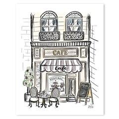 "French Café Art Print - 8"" x 10"""