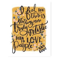 """Van Gogh Love People Art Print - 11"""" x 14"""""""