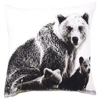 "Photo Real Pillow Cover – Bear, 18"" x 18"""