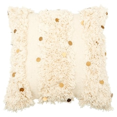 """Moroccan Gold Disc Pillow Cover – 18"""" x 18"""""""