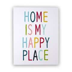 Reproduction Home is my Happy Place – 11 po x 14 po