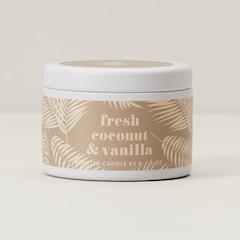Mini Tin Candle – Fresh Coconut & Vanilla