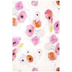 Reproduction sur toile 24pox26po — Esquisse florale, Blanc Ivoire
