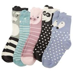 Everyday Cozy Socks - 5 Pack, Critter