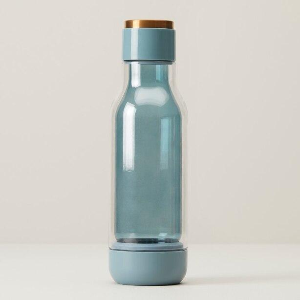 ASOBU INNER PEACE GLASS WATER BOTTLE ARONA BLUE