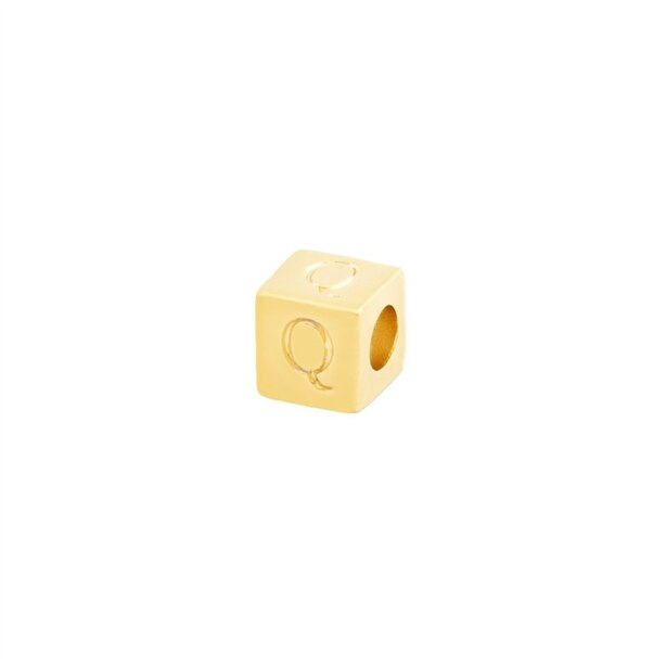 14k GOLD PLATED SILVER BLOCK - Q
